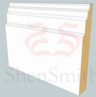 Stepped MDF Skirting Board - 5.4m Lengths