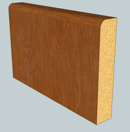 Pencil Round Oak Skirting Board - 2.4m Lengths