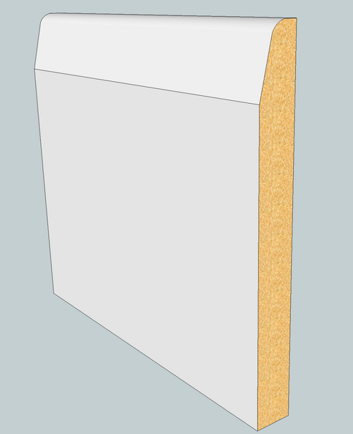Chamfered & Round MDF Skirting Board - 3m Lengths
