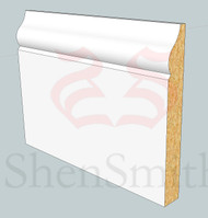 SP08 Profile MDF Skirting Board - 5.4m Lengths