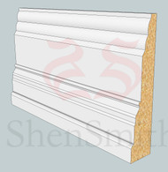 SP10 Profile MDF Skirting Board - 5.4m Lengths