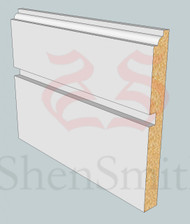 SP14 Profile MDF Skirting Board - 5.4m Lengths