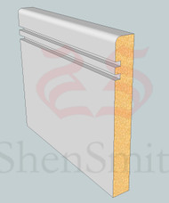 SP62 Profile MDF Skirting Board - 5.4m Lengths