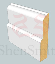 SP77 Profile MDF Skirting Board - 5.4m Lengths