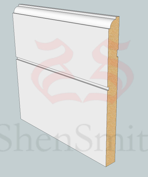 SP93 Profile MDF Skirting Board - 5.4m Lengths