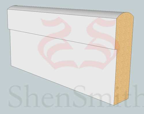 SP95 Profile MDF Skirting Board - 5.4m Lengths