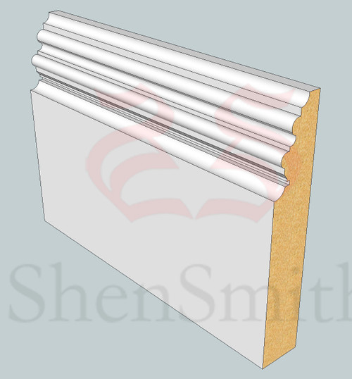 SP98 Profile MDF Skirting Board - 5.4m Lengths