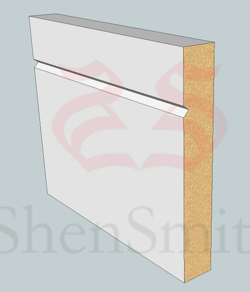 SP99 Profile MDF Skirting Board - 5.4m Lengths