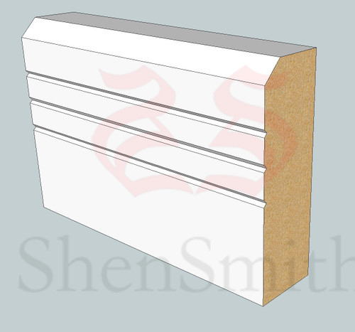 SP100 Profile MDF Skirting Board - 5.4m Lengths