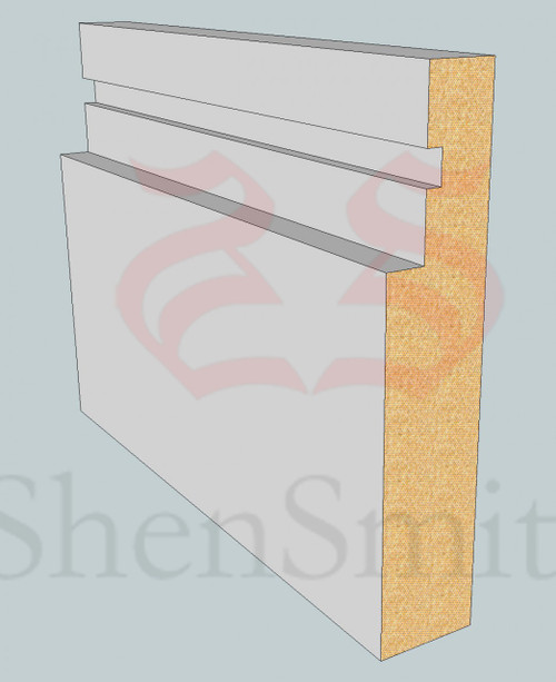 SP101 Profile MDF Skirting Board - 5.4m Lengths