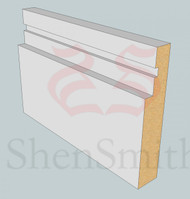 SP102 Profile MDF Skirting Board - 5.4m Lengths