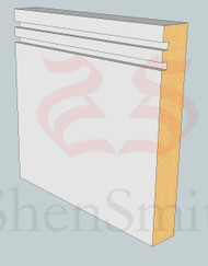 Rebated-2 MDF Architrave - 2.4m Lengths