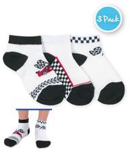 Race Car Low Cut 3 PK Boys Socks