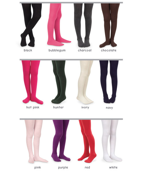 Colours available for the Seamless Organic Cotton Tights