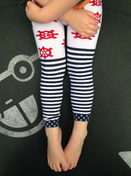 Nautical Capri Tights in navy