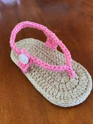 Newborn Crochet Sandals - Pink