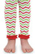 Red, white and green Chevron Leggings