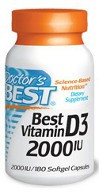 Doctor's Best Vitamin D3 2000IU 180 Softgels
