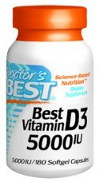 Doctor's Best Vitamin D3 5000IU 360 Softgels