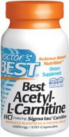 Doctor's Best Acetyl-L-Carnitine 588 mg) 120 Capsules