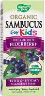 Nature's Way Organic Sambucus for Kids 4 fl oz. (USDA certified organic)