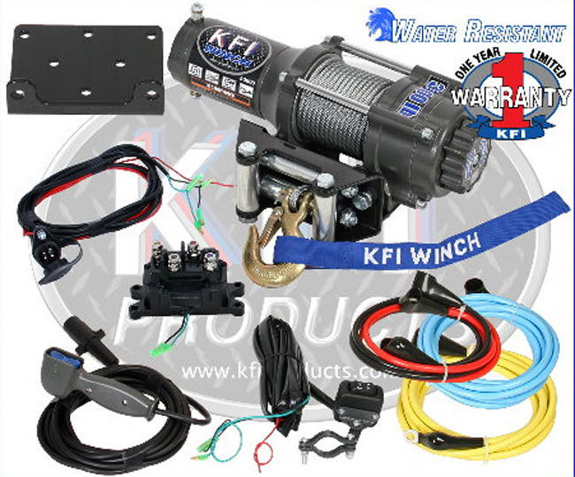 kfi 3000 atv utv winch kit  loading zoom
