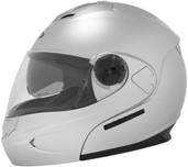 Cyber U-217 Modular Solid Helmet Lg Silver 640923