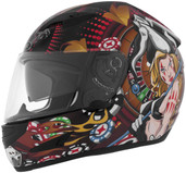 Cyber US-97 Poker Girl Graphics Helmet Lg Brown 641063