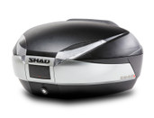 shad sh48 motorcycle luggage top case black silver SH48200