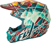 Fly Racing 2015 Formula MX Facet Helmet 2X Teal/Orange/Yellow 73-41042X