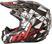Fly Racing 2015 Formula MX Facet Helmet XS Black/Silver/Red 73-4101XS