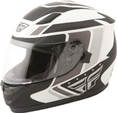 Fly Racing Conquest Retro Helmet Lg White/Black 73-8411L