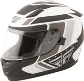 Fly Racing Conquest Retro Helmet Lg White/Black 73-8411L