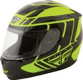 Fly Racing Conquest Retro Helmet Sm Hi Viz 73-8414S