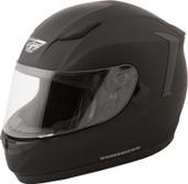 Fly Racing Conquest Solid Helmet Lg Flat Black 73-8400L