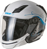 Fly Racing Tourist Cirrus Open Face Helmet Lg White/Blue F73-8110-4