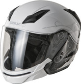 Fly Racing Tourist Cirrus Open Face Helmet Md White/Silver F73-8109-3