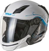 Fly Racing Tourist Cirrus Open Face Helmet Sm White/Blue F73-8110-2