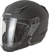 Fly Racing Tourist Solid Open Face Helmet 2XL Flat Black F73-8101-6