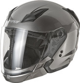 Fly Racing Tourist Solid Open Face Helmet 2XL Titanium F73-8102-6