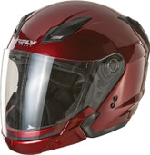 Fly Racing Tourist Solid Open Face Helmet Lg Candy Red F73-8105-4