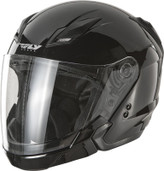 Fly Racing Tourist Solid Open Face Helmet XL Black F73-8100-5