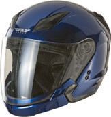 Fly Racing Tourist Solid Open Face Helmet XL Blue F73-8103-5