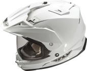 Fly Racing Trekker Dual Sport Helmet Lg White TREKKER WHITE L