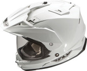 Fly Racing Trekker Dual Sport Helmet Md White TREKKER WHITE M