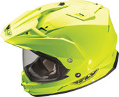 Fly Racing Trekker Dual Sport Helmet Sm Yellow TREKKER HI-VIS YEL S