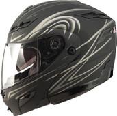 GMAX GM54 Modular Street Helmet Derk Lg Flat Silver 1540396 F.TC-12