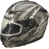 GMAX GM54S Modular Multi Color Snow Helmet Md Flat Silver G2544555 TC-17