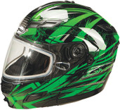 GMAX GM54S Modular Multi Color Snow Helmet Md Green G2544225 TC-3