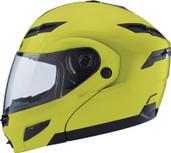 GMAX GM54S Modular Street Helmet Lg Hi Viz G1540606